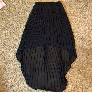 Xhilaration Skirts - Xhilaration XS black high low shirt